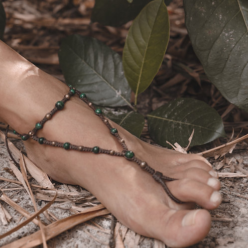 Bijou de pied malachite