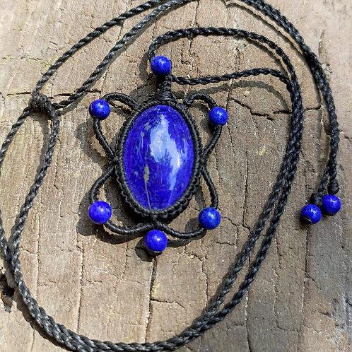 Collier Fleur Lapis lazuli