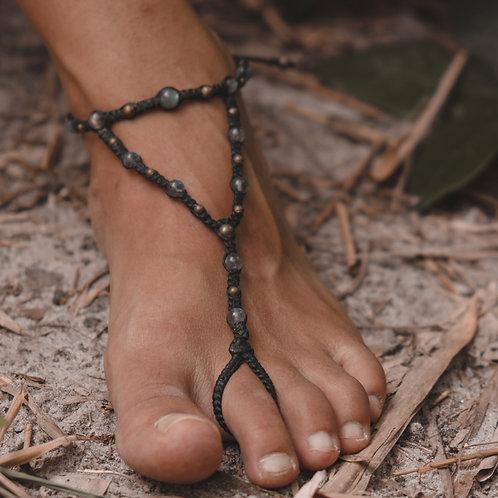 Bijou de pied labradorite