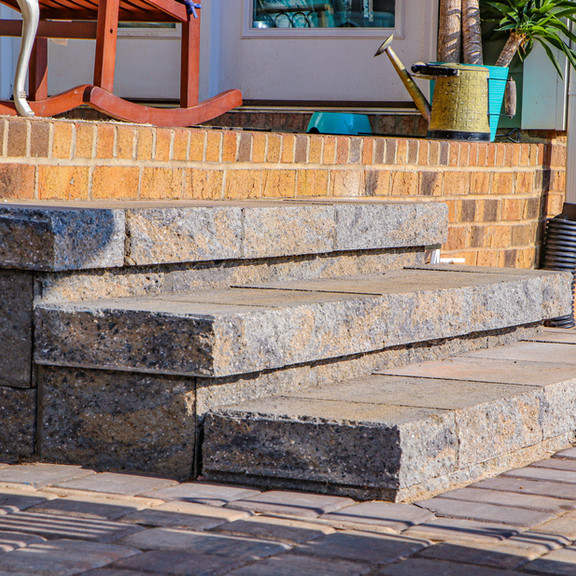 Paver Patio & Steps- After