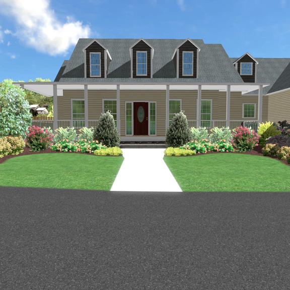 Front Yard Landscaping - 3D Design