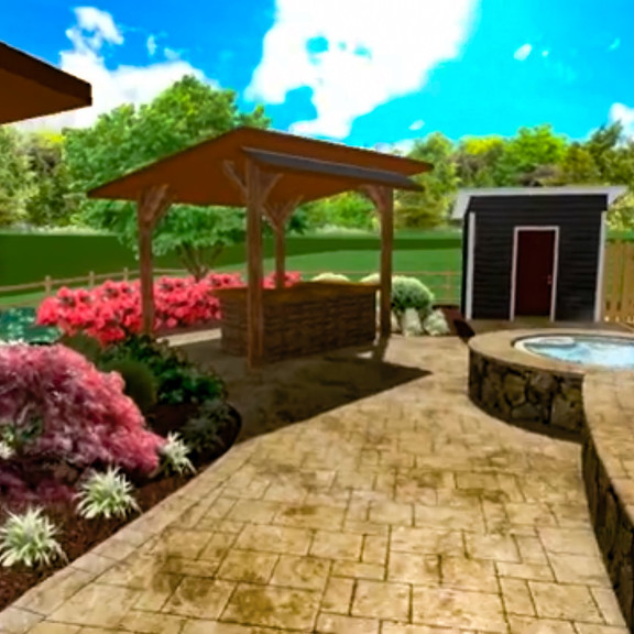 Rear Yard Landscaping - 3D Design