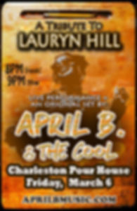 April B. & The Cool Tribute to Lauryn Hill Flyer