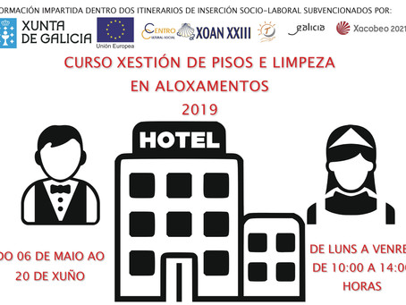 Curso Gestión de pisos y limpieza en alojamientos 2019