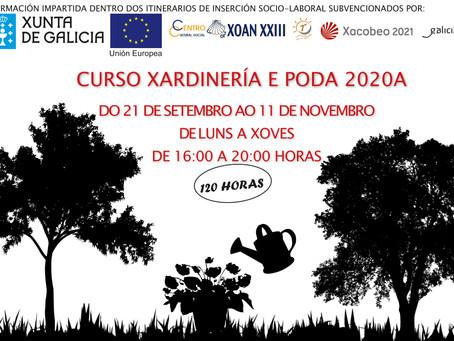 CURSO JARDINERÍA Y PODA 2020 A