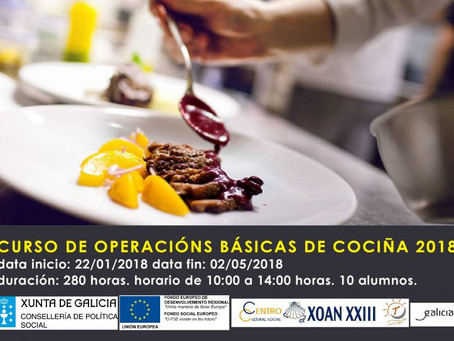 Curso Operacións Básicas de Cociña 2018