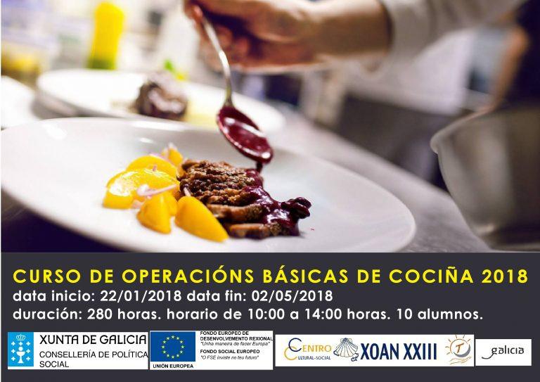 Curso de Operaciones Básicas de Cocina 2018