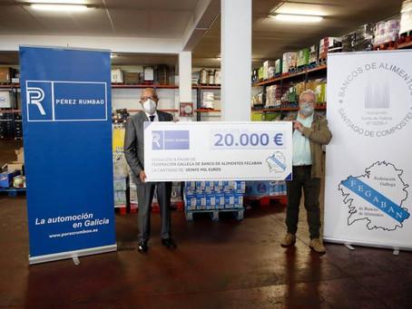 Donación de Pérez Rumbao al Banco de Alimentos
