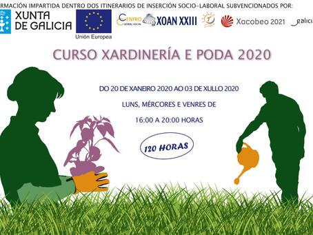 CURSO DE JARDINERÍA Y PODA 2020 (ACTUALIZADO POR SITUACION COVID-19)