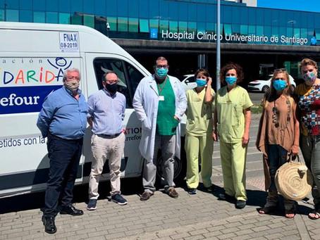 Personal de Urgencias del CHUS dona más de 1.600 kilos de alimentos