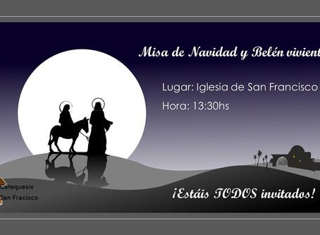 Misa de Navidad y Belén viviente