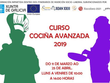 CURSO COCINA AVANZADA 2019