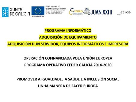 Qué es el programa operativo FEDER Galicia 2014-2020