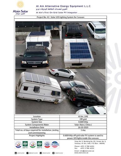 Alain Solar's off-grid solar PV Project