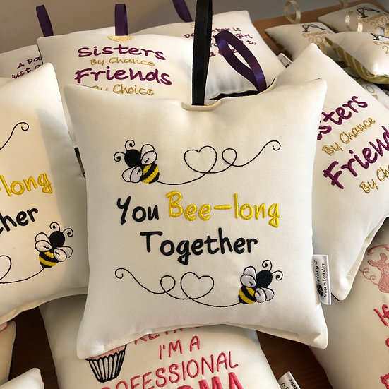 'You Bee-long Together' Hanging Cushion