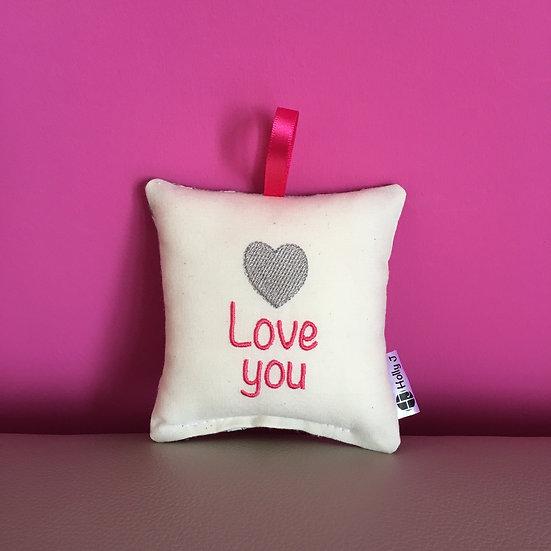 'Love you' Mini Hanging Cushion
