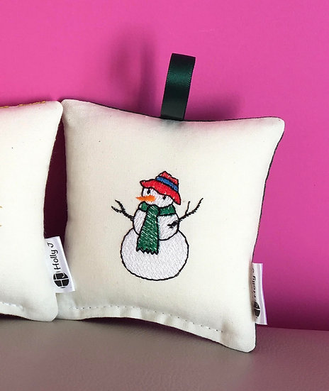 Snowman Mini Hanging Cushion