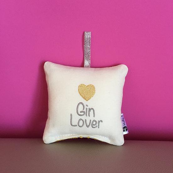 'Gin Lover' Mini Hanging Cushion