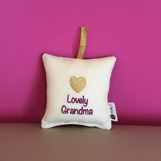 'Lovely Grandma' Mini Hanging Cushion