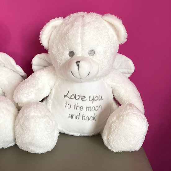 'Love you to the moon and back' Angel Teddy Bear