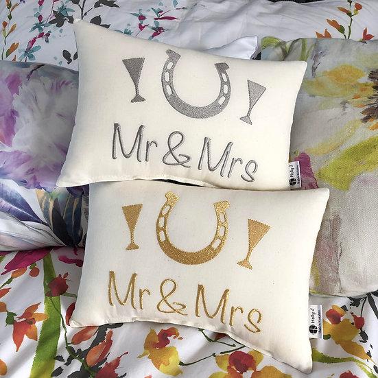 'Mr & Mrs' Mini Bolster