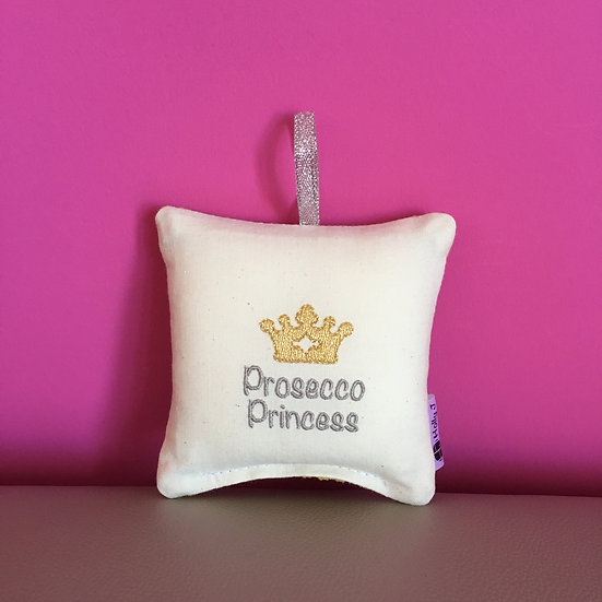 'Prosecco Princess' Mini Hanging Cushion