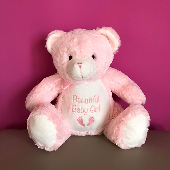 'Beautiful Baby Girl' Teddy Bear