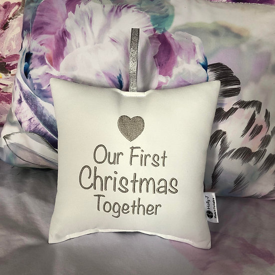 'Our First Christmas Together' Hanging Cushion