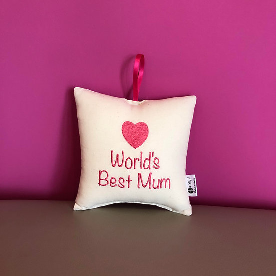 'World's Best Mum' Hanging Cushion