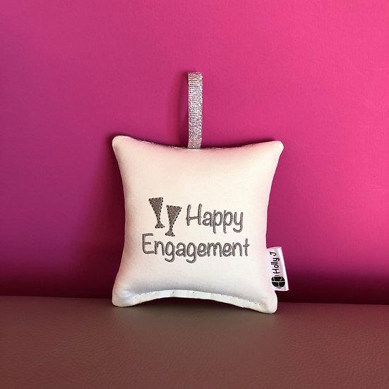 'Happy Engagement' Mini Hanging Cushion
