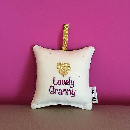'Lovely Granny' Mini Hanging Cushion