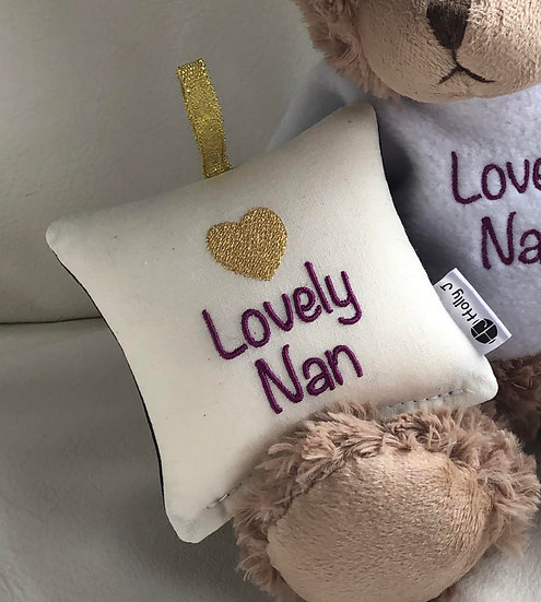 'Lovely Nan' Mini Hanging Cushion