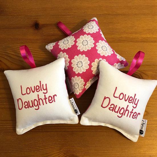 'Lovely Daughter' Mini Hanging Cushion