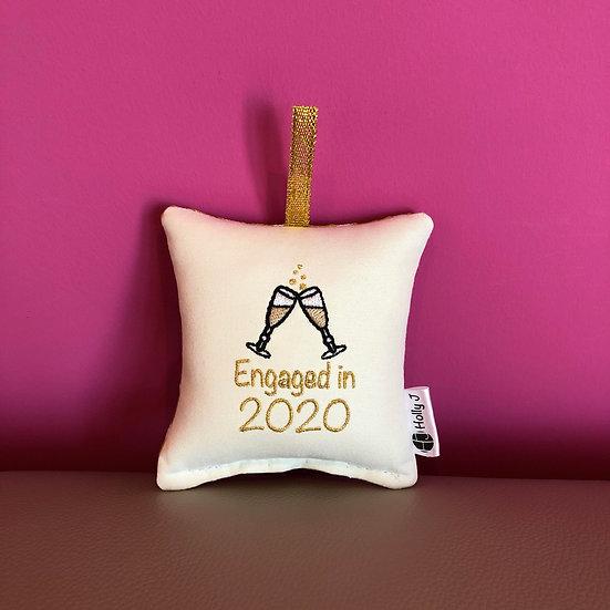 'Engaged in 2020' Mini Hanging Cushion