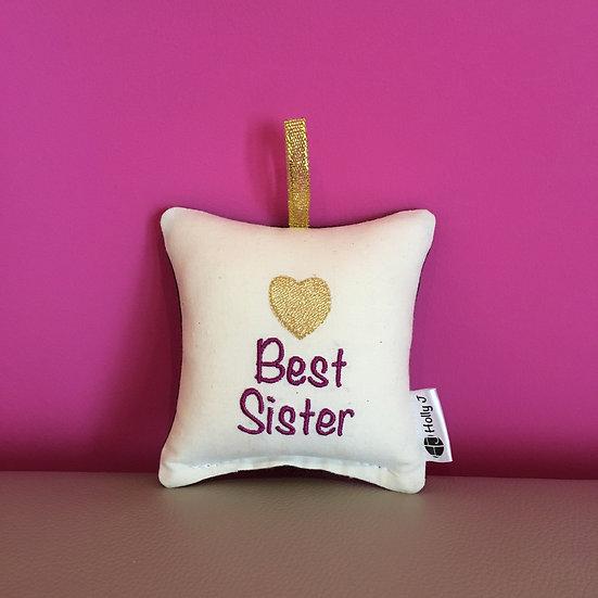 'Best Sister' Mini Hanging Cushion