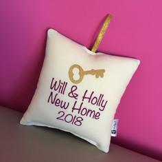 Personalised New Home Hanging Cushion