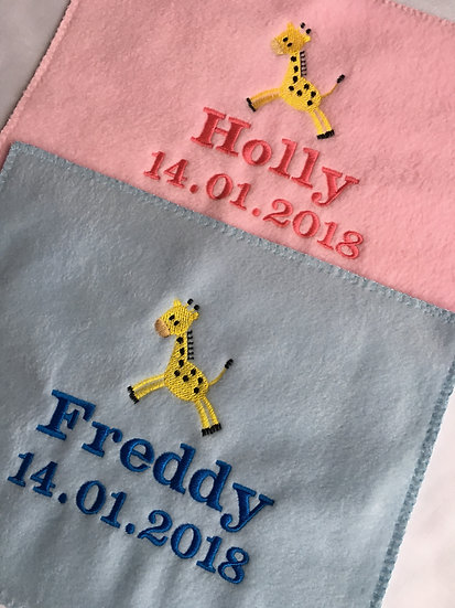 Personalised Embroidered Babies Blanket