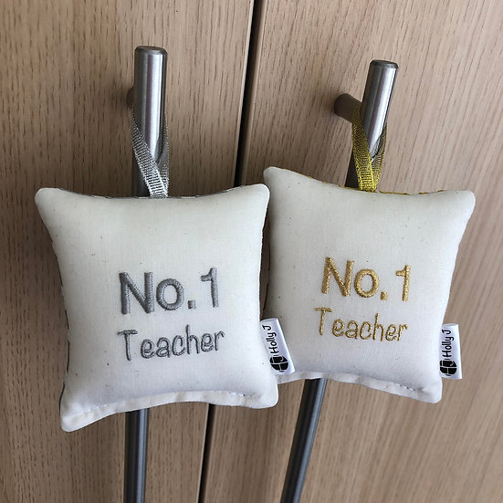 'No.1 Teacher' Mini Hanging Cushion