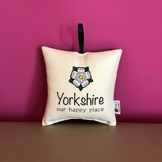 'Yorkshire our happy place' Hanging Cushion