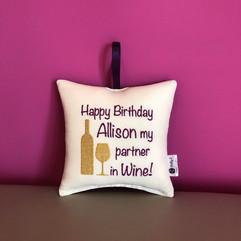 Partner in Wine Cushion