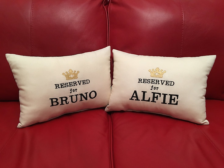 Personalised 'Reserved for' Cushion