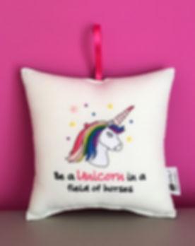 Be a Unicorn Hanging Cushion.jpg