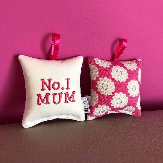 'No.1 MUM' Mini Hanging Cushion