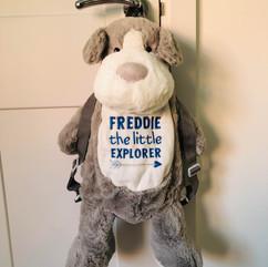 Freddie the little Explorer Dog Backpack