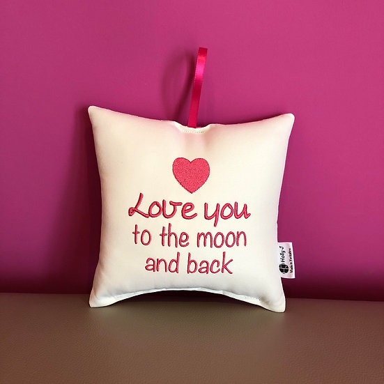 'Love you to the moon and back' Hanging Cushion