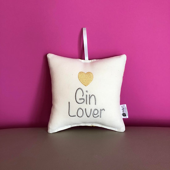 'Gin Lover' Hanging Cushion