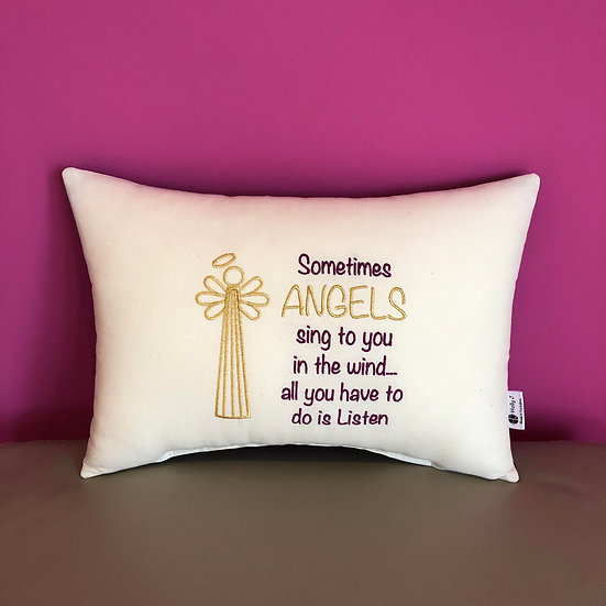 'Sometimes Angels...' Large Bolster