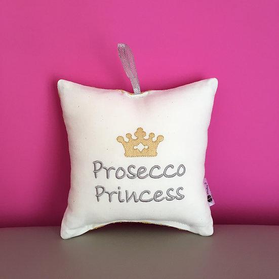 'Prosecco Princess' Hanging Cushion