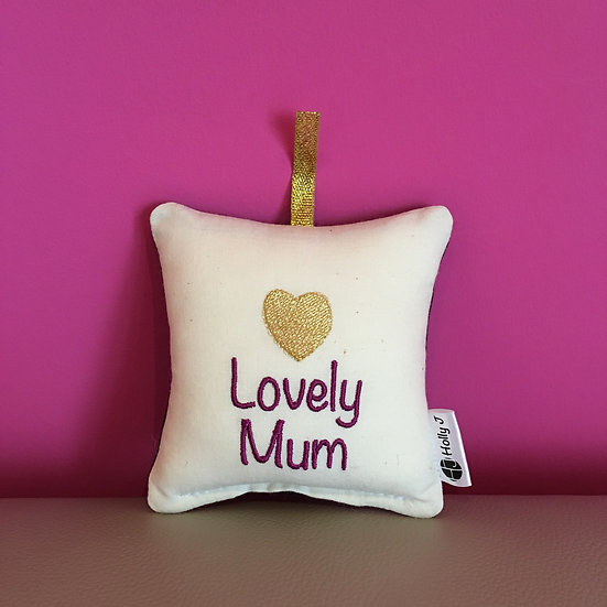 'Lovely Mum' Mini Hanging Cushion