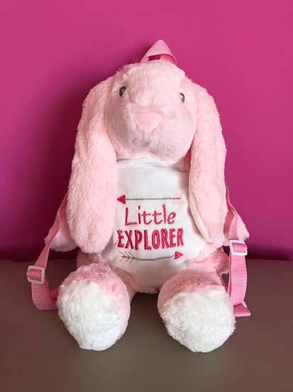 'Little Explorer' Bunny Backpack